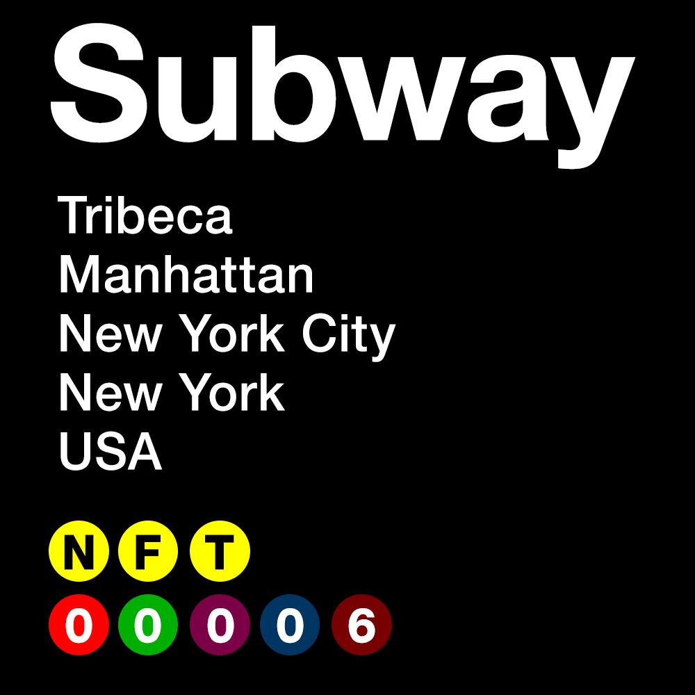 SUBWAY #00006 - Tribeca - Manhattan - New York City - New York - USA