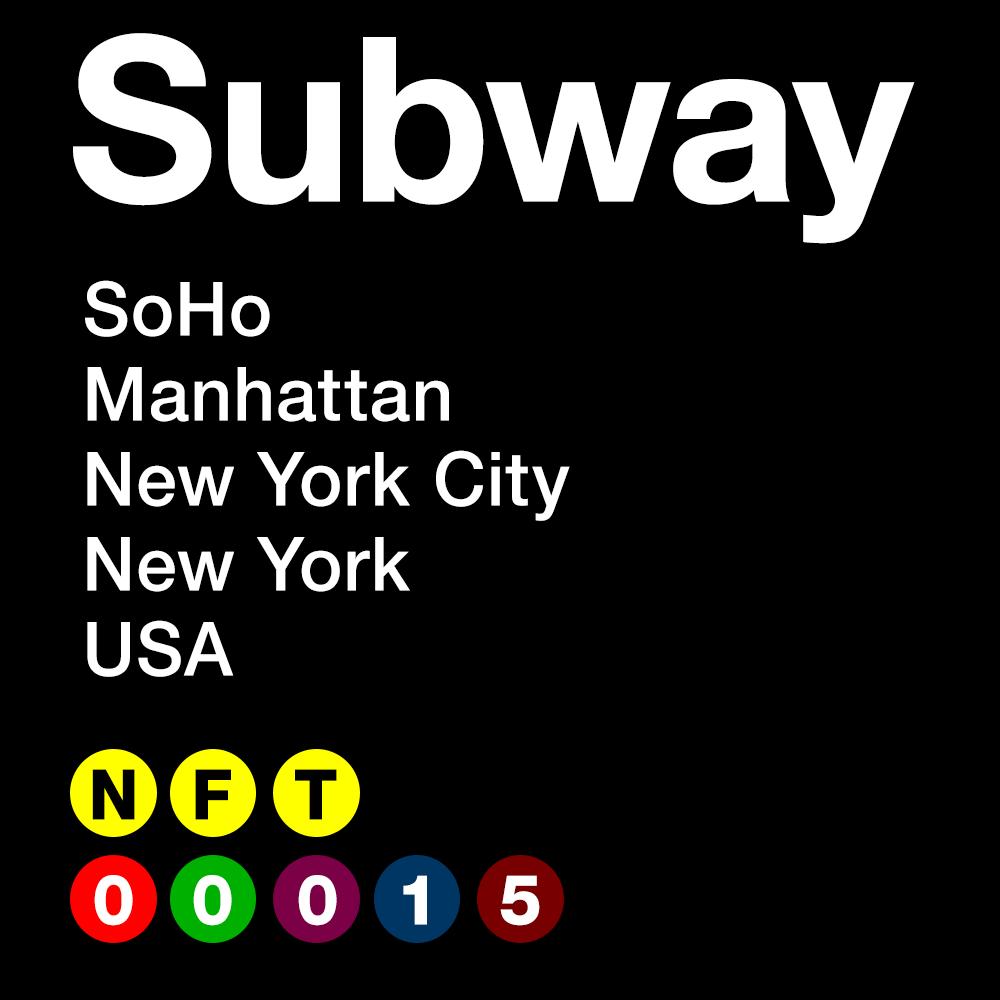 SUBWAY #00015 - SoHo - Manhattan - New York City - New York - USA