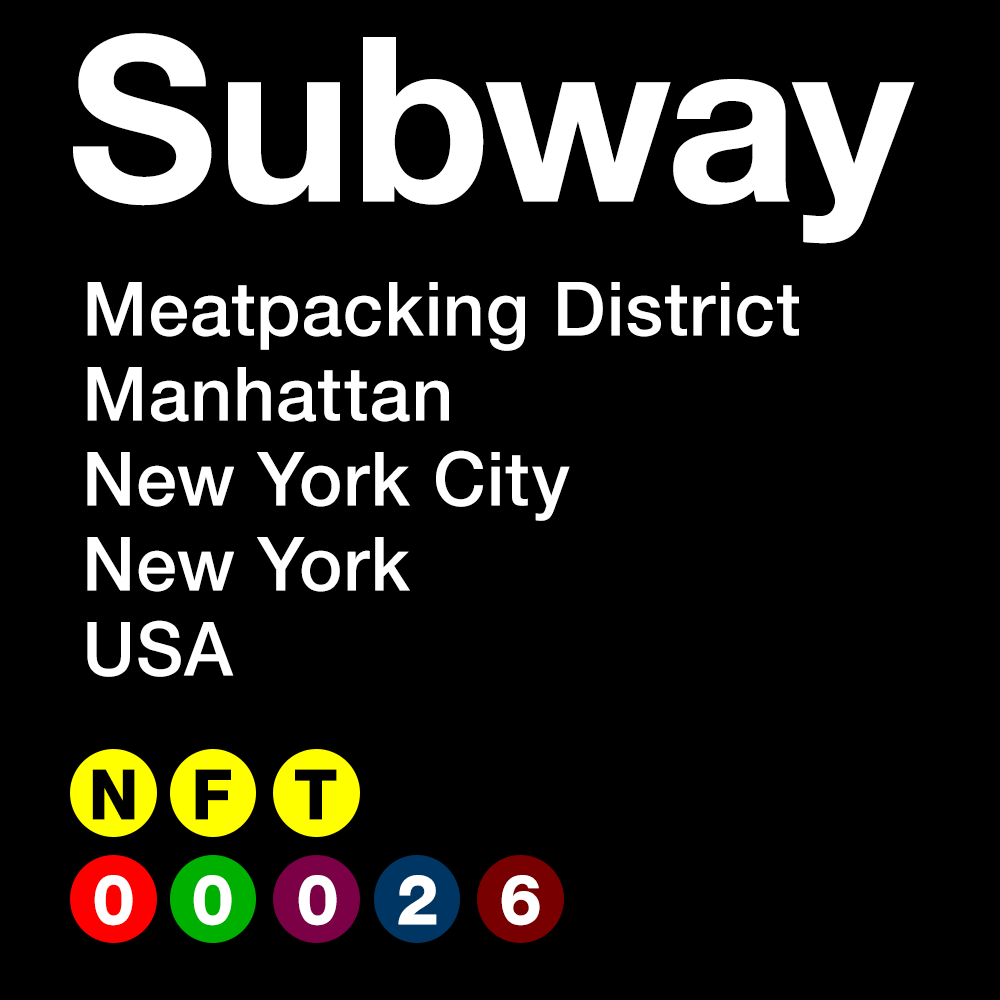 SUBWAY #00026 - Meatpacking District - Manhattan - New York City - New York - USA
